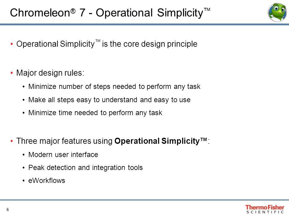 Chromeleon® 7 - Operational Simplicity™