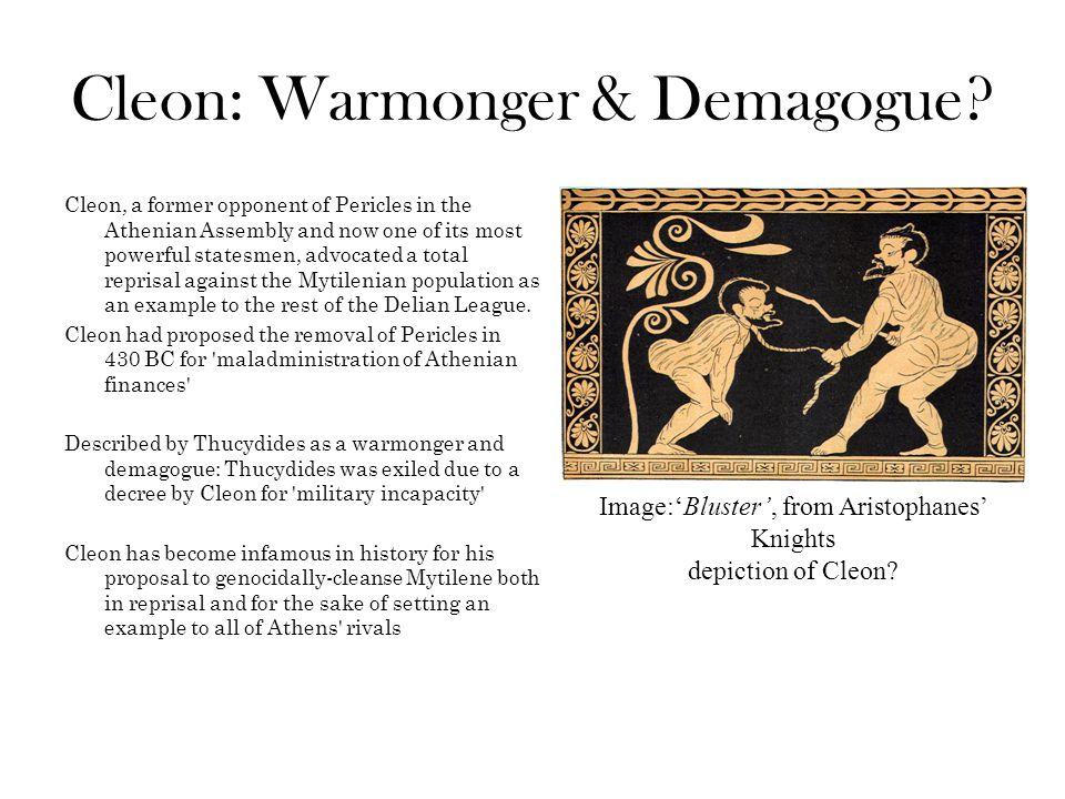 Cleon: Warmonger & Demagogue