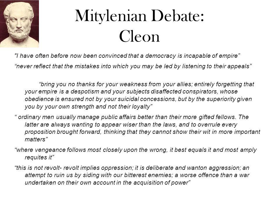Mitylenian Debate: Cleon