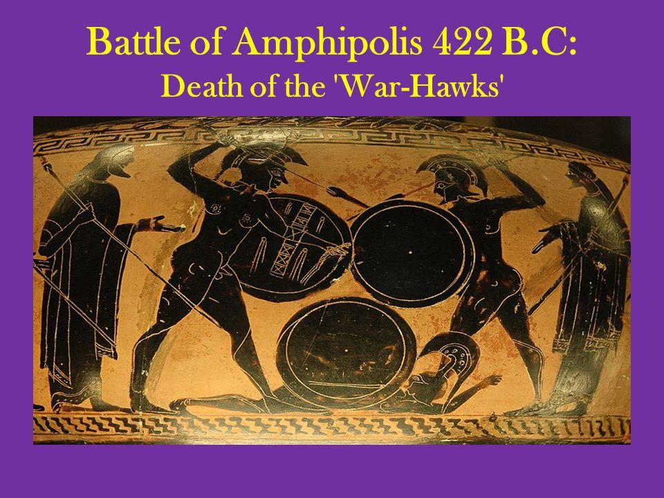 Battle of Amphipolis 422 B.C: Death of the War-Hawks