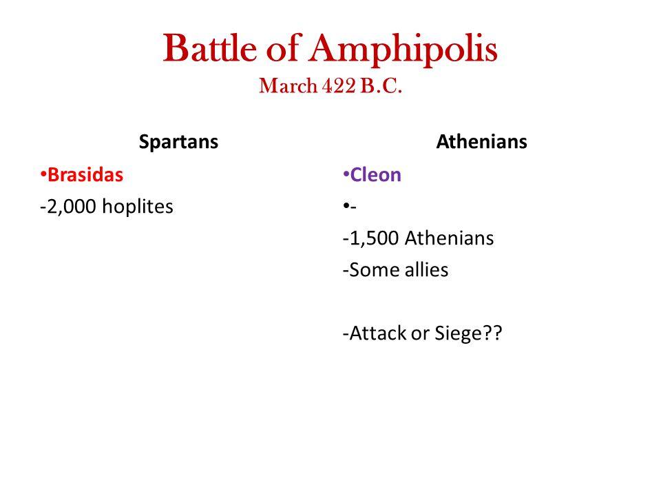 Battle of Amphipolis March 422 B.C.