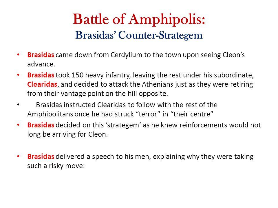 Battle of Amphipolis: Brasidas' Counter-Strategem
