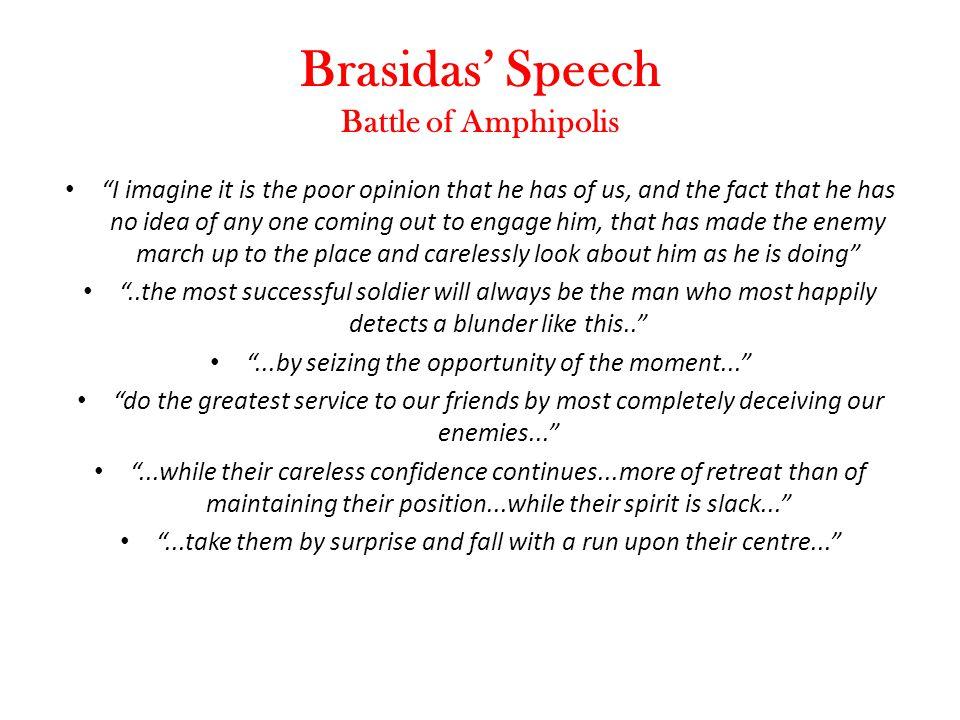 Brasidas' Speech Battle of Amphipolis