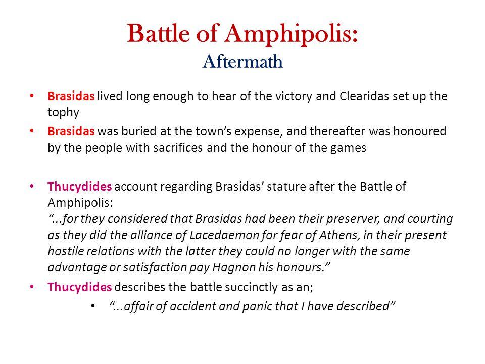 Battle of Amphipolis: Aftermath