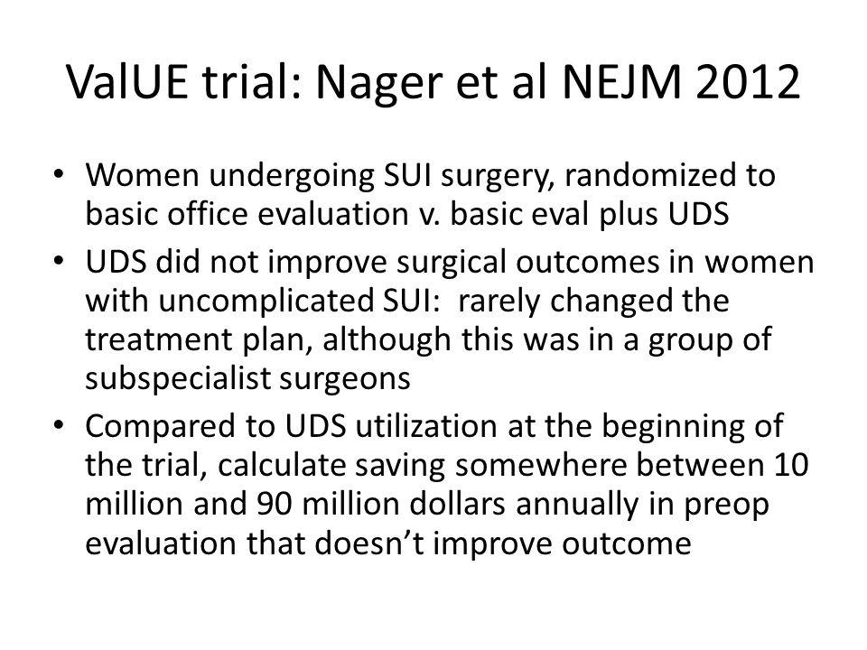 ValUE trial: Nager et al NEJM 2012