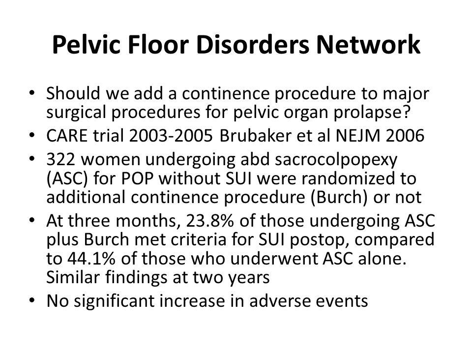 Pelvic Floor Disorders Network