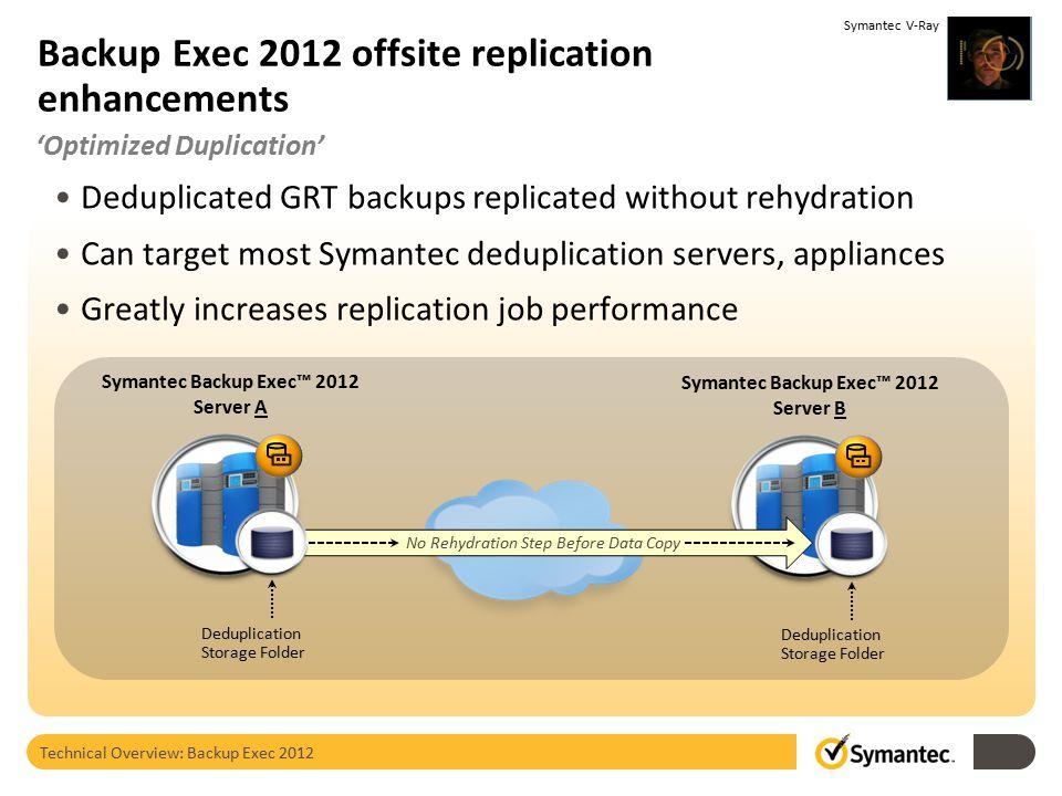 Backup Exec 2012 offsite replication enhancements