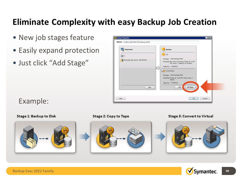 Eliminate Complexity with easy Backup Job Creation