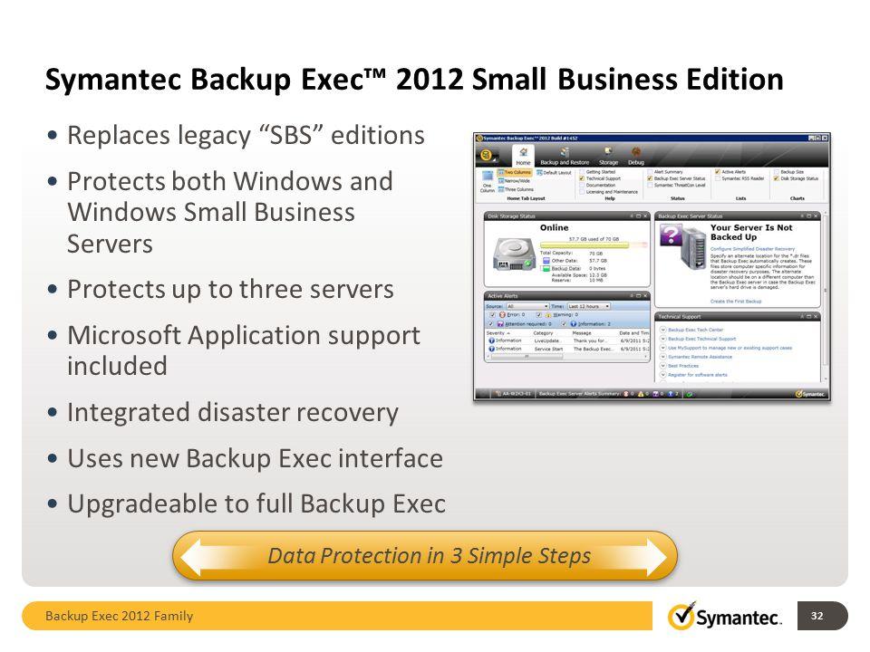 Symantec Backup Exec™ 2012 Small Business Edition