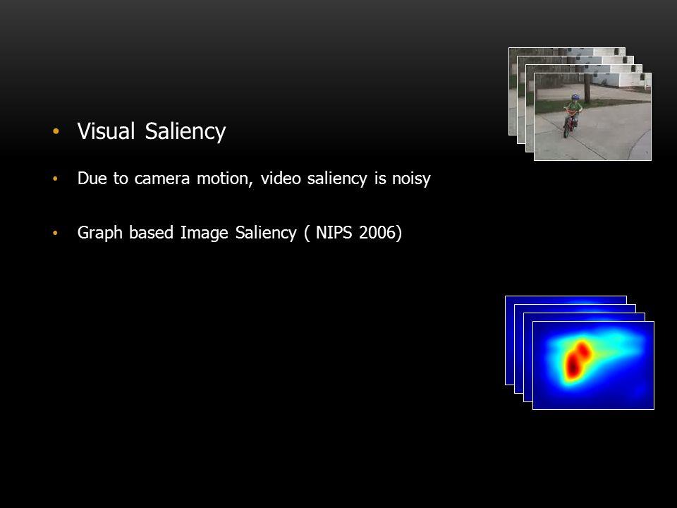 Visual Saliency Due to camera motion, video saliency is noisy