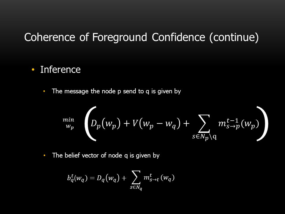 Coherence of Foreground Confidence (continue)