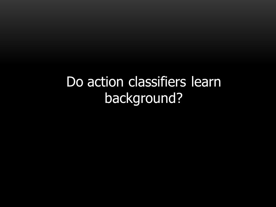 Do action classifiers learn background