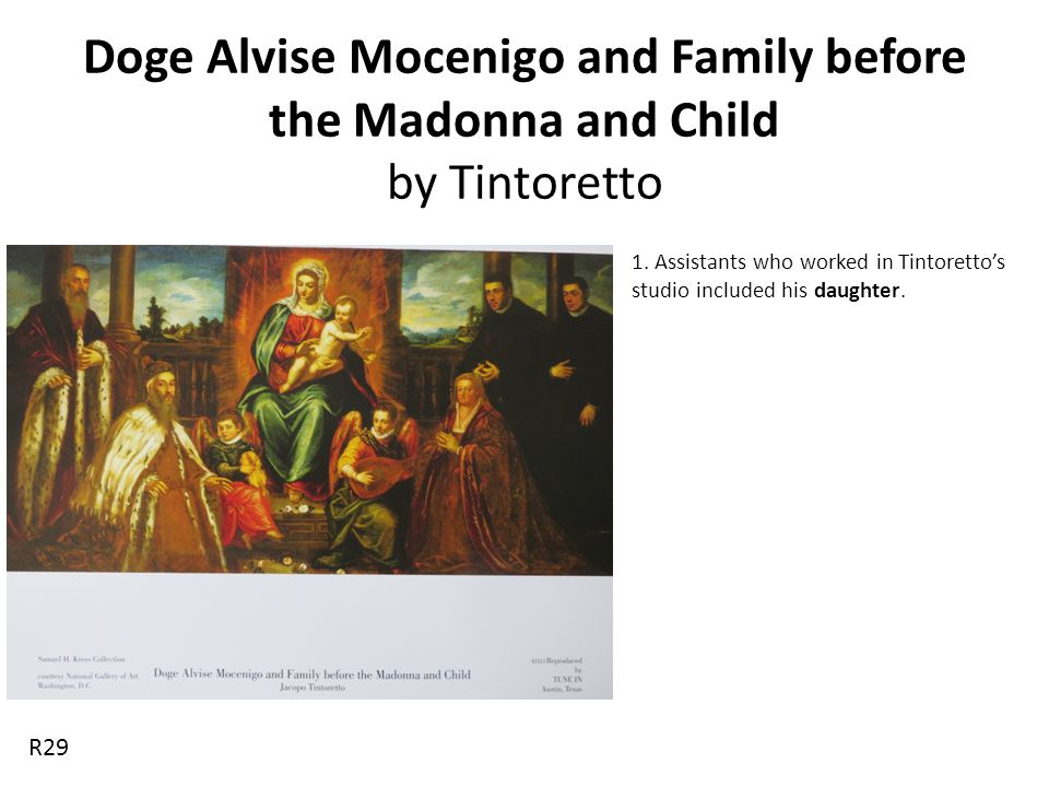 Doge Alvise Mocenigo and Family before the Madonna and Child by Tintoretto