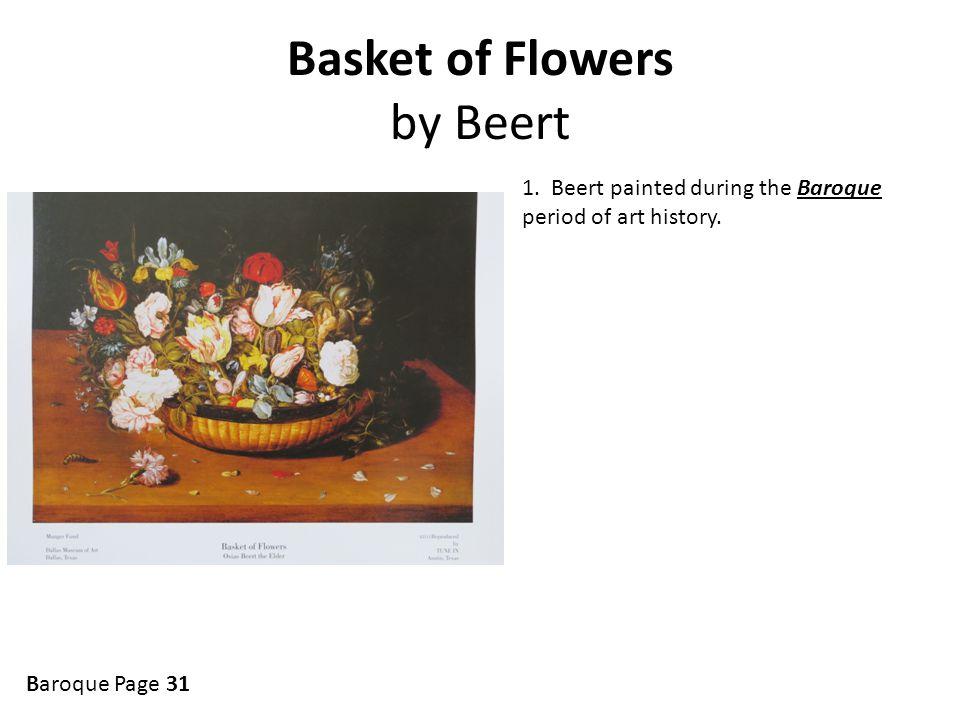 Basket of Flowers by Beert