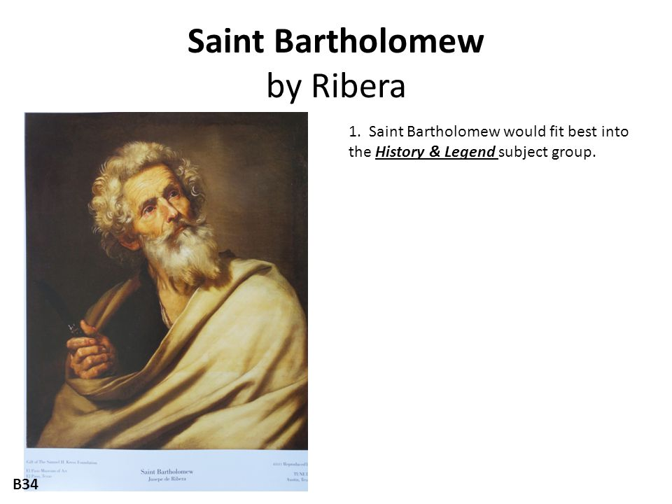 Saint Bartholomew by Ribera