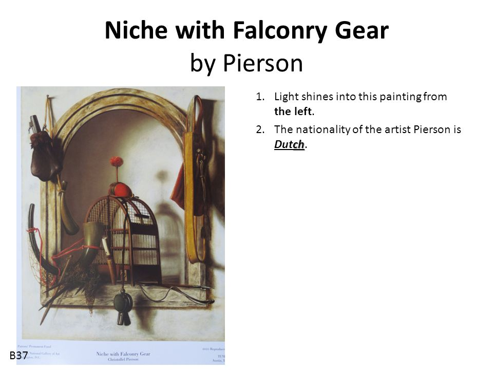 Niche with Falconry Gear by Pierson
