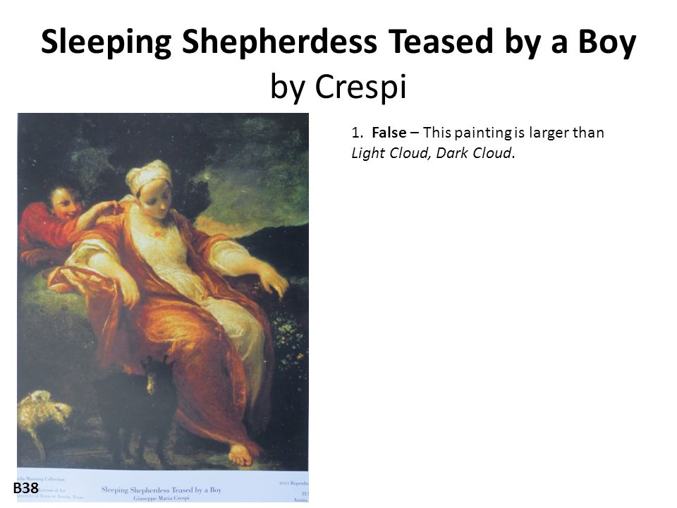 Sleeping Shepherdess Teased by a Boy by Crespi