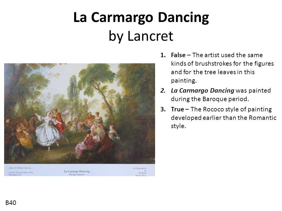 La Carmargo Dancing by Lancret