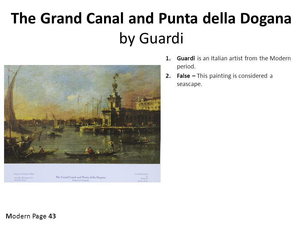 The Grand Canal and Punta della Dogana by Guardi