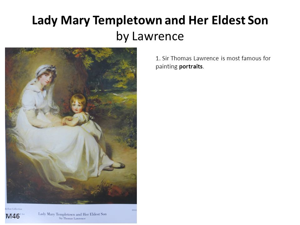 Lady Mary Templetown and Her Eldest Son by Lawrence
