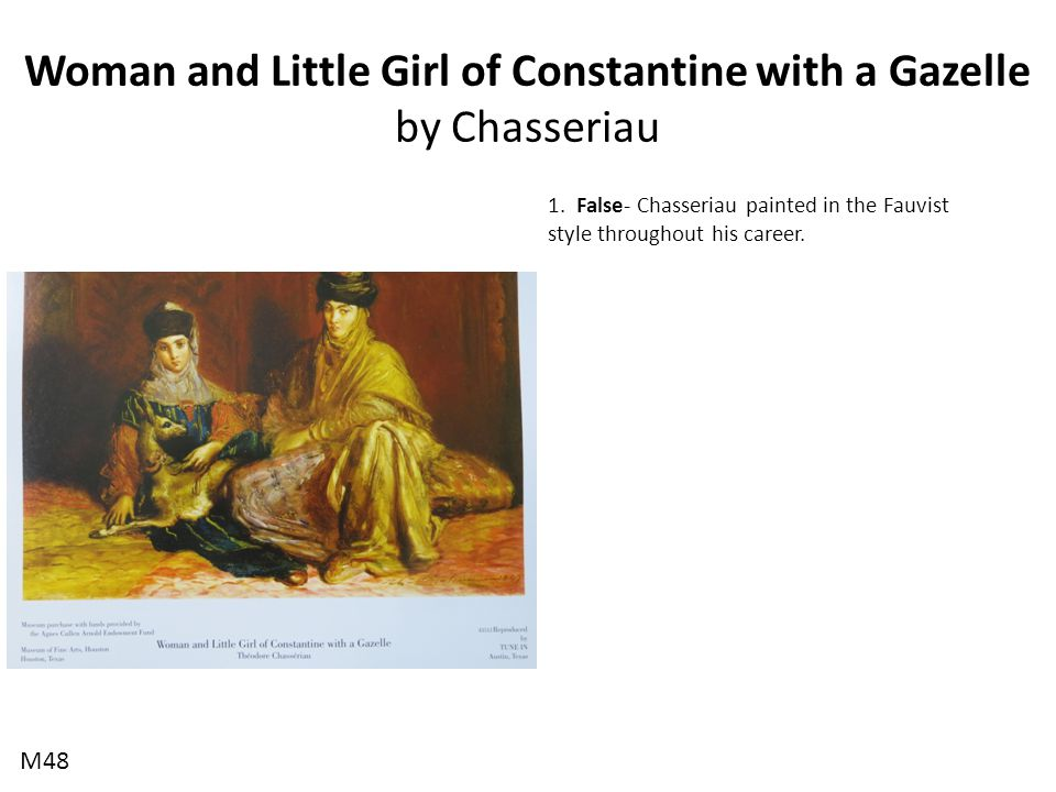 Woman and Little Girl of Constantine with a Gazelle by Chasseriau