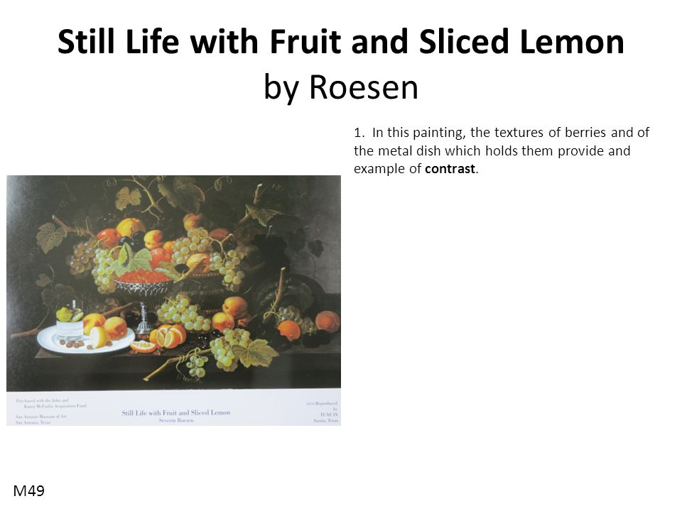 Still Life with Fruit and Sliced Lemon by Roesen