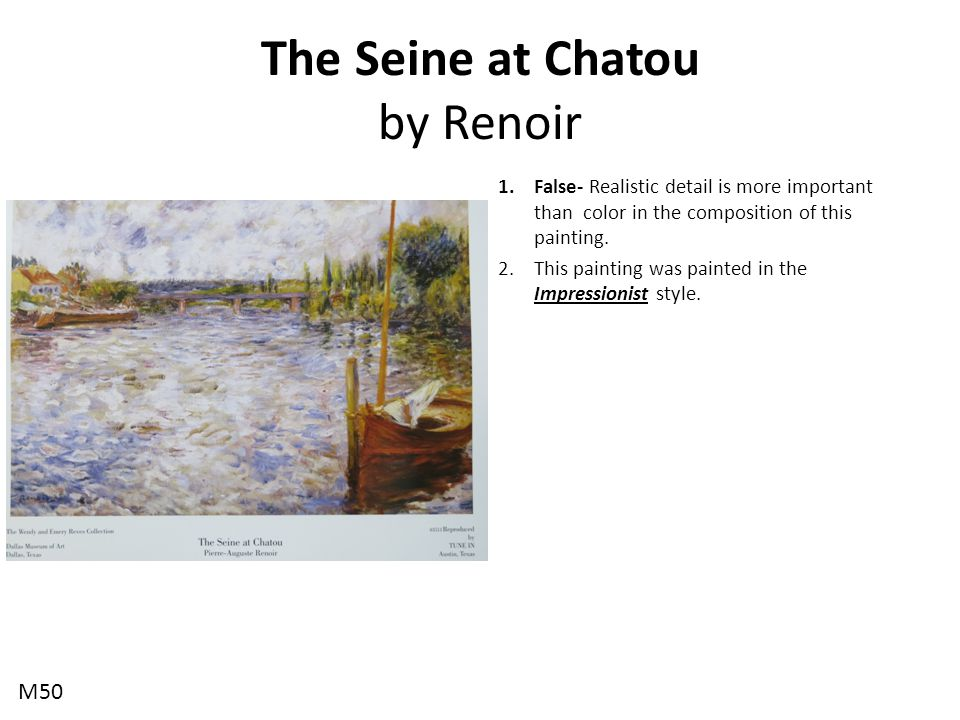 The Seine at Chatou by Renoir