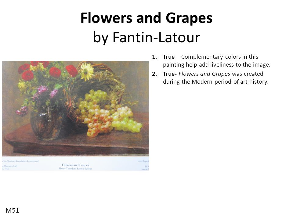 Flowers and Grapes by Fantin-Latour