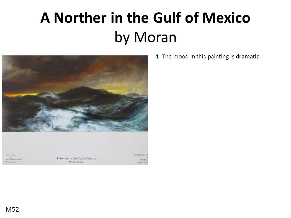A Norther in the Gulf of Mexico by Moran