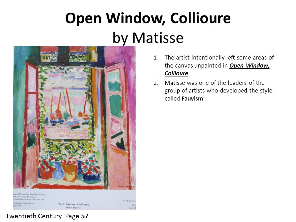 Open Window, Collioure by Matisse