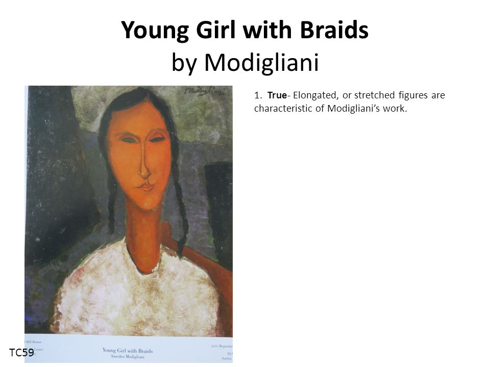 Young Girl with Braids by Modigliani