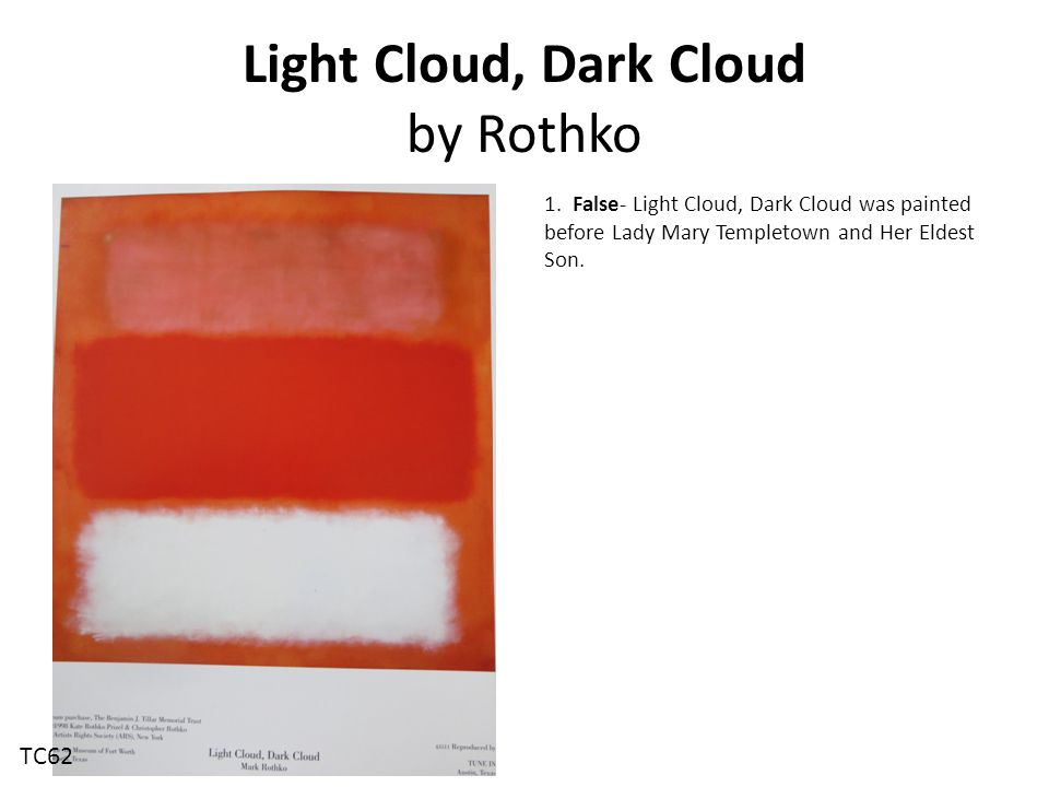 Light Cloud, Dark Cloud by Rothko