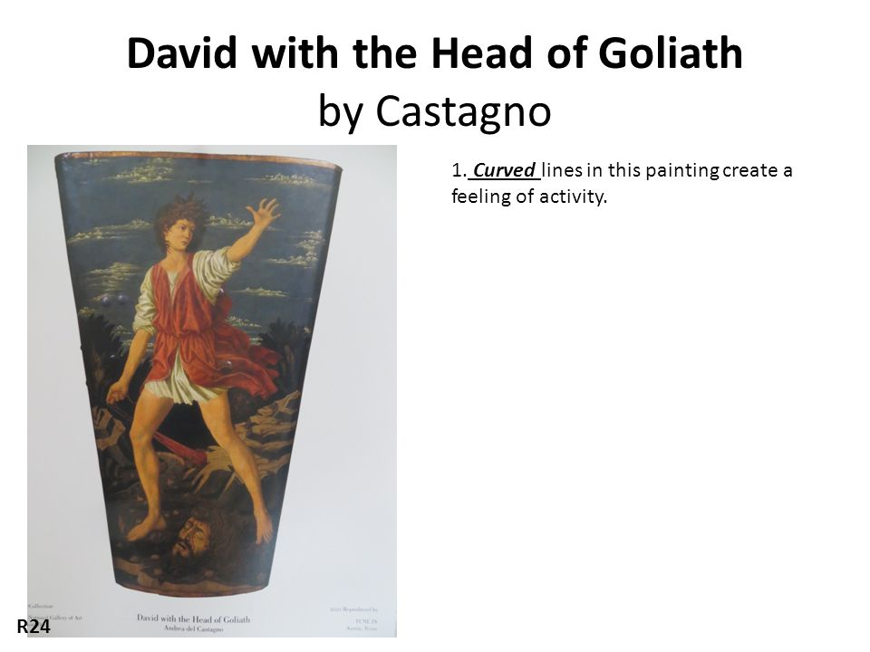 David with the Head of Goliath by Castagno