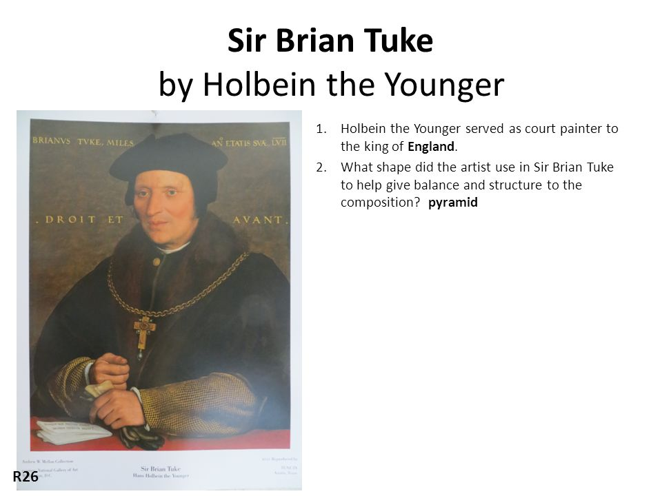Sir Brian Tuke by Holbein the Younger