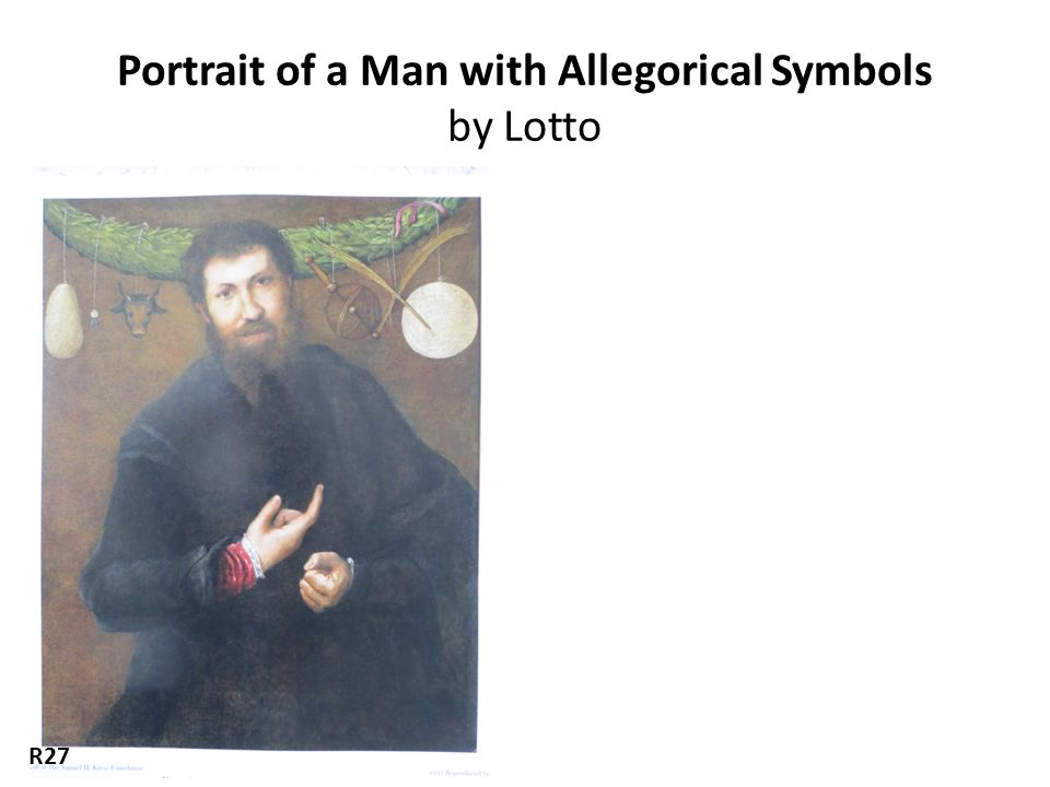 Portrait of a Man with Allegorical Symbols by Lotto