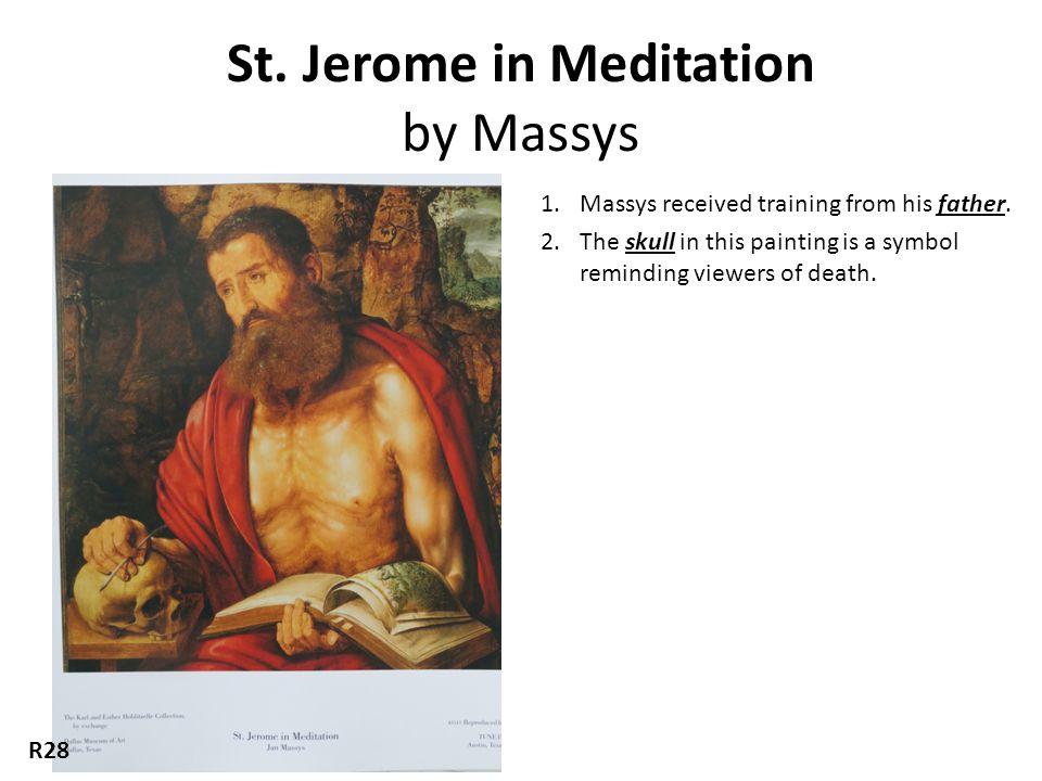 St. Jerome in Meditation by Massys