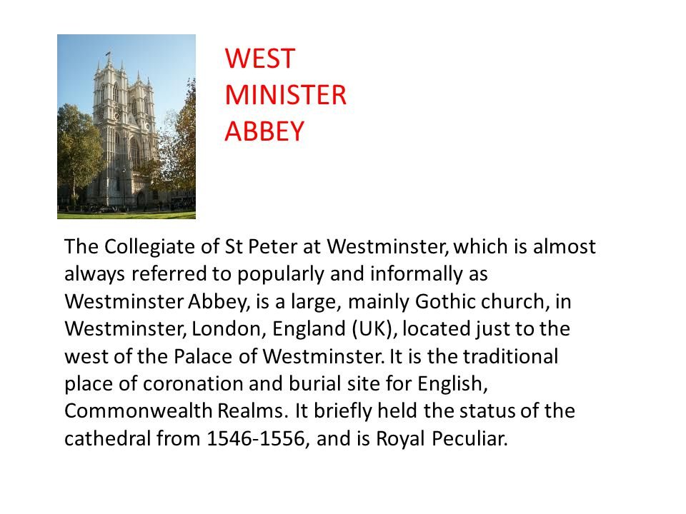 WEST MINISTER ABBEY