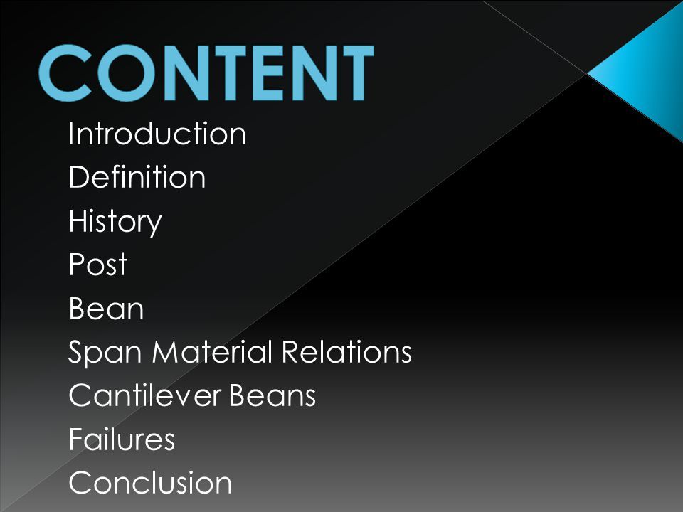 CONTENT Introduction Definition History Post Bean