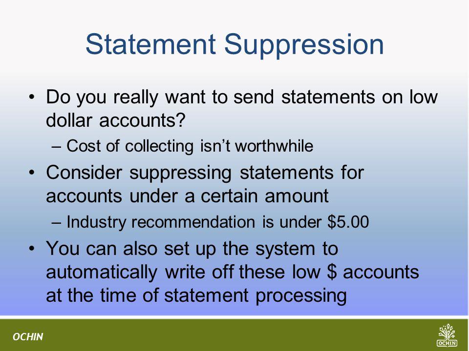 Statement Suppression