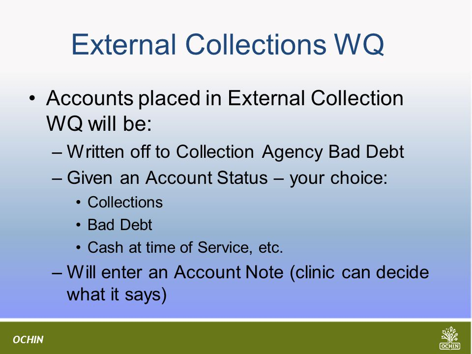 External Collections WQ