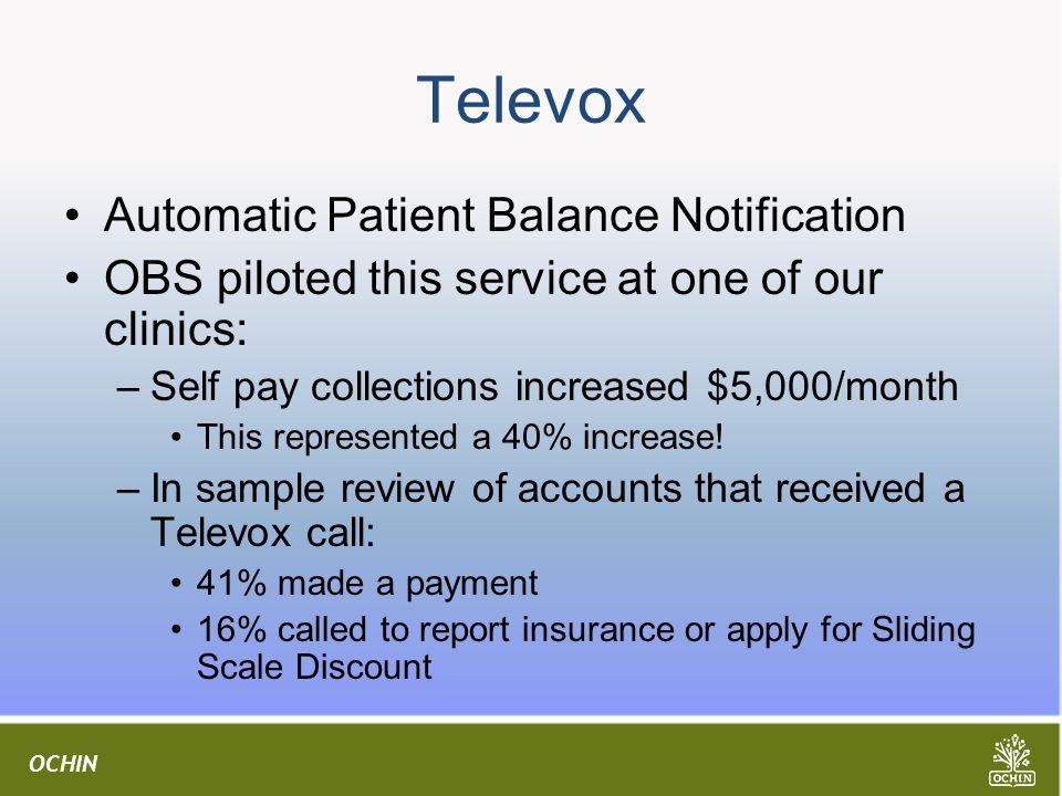 Televox Automatic Patient Balance Notification