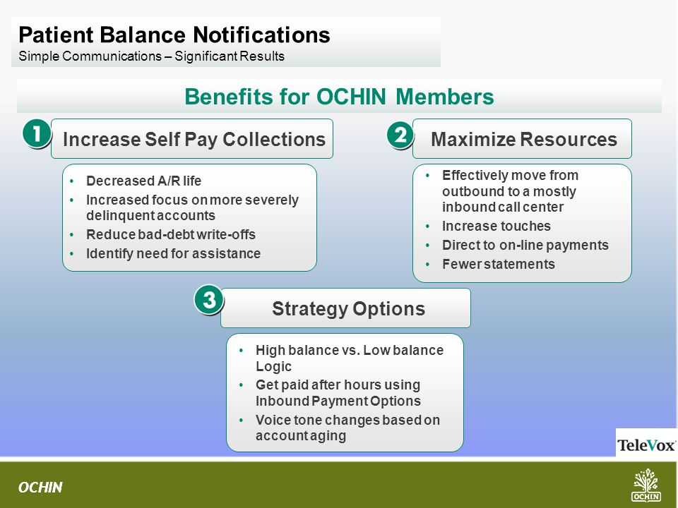 Benefits for OCHIN Members Increase Self Pay Collections