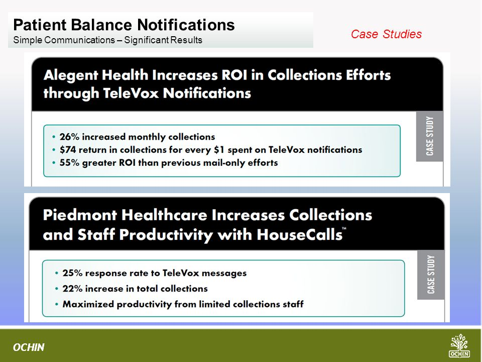 Patient Balance Notifications Simple Communications – Significant Results