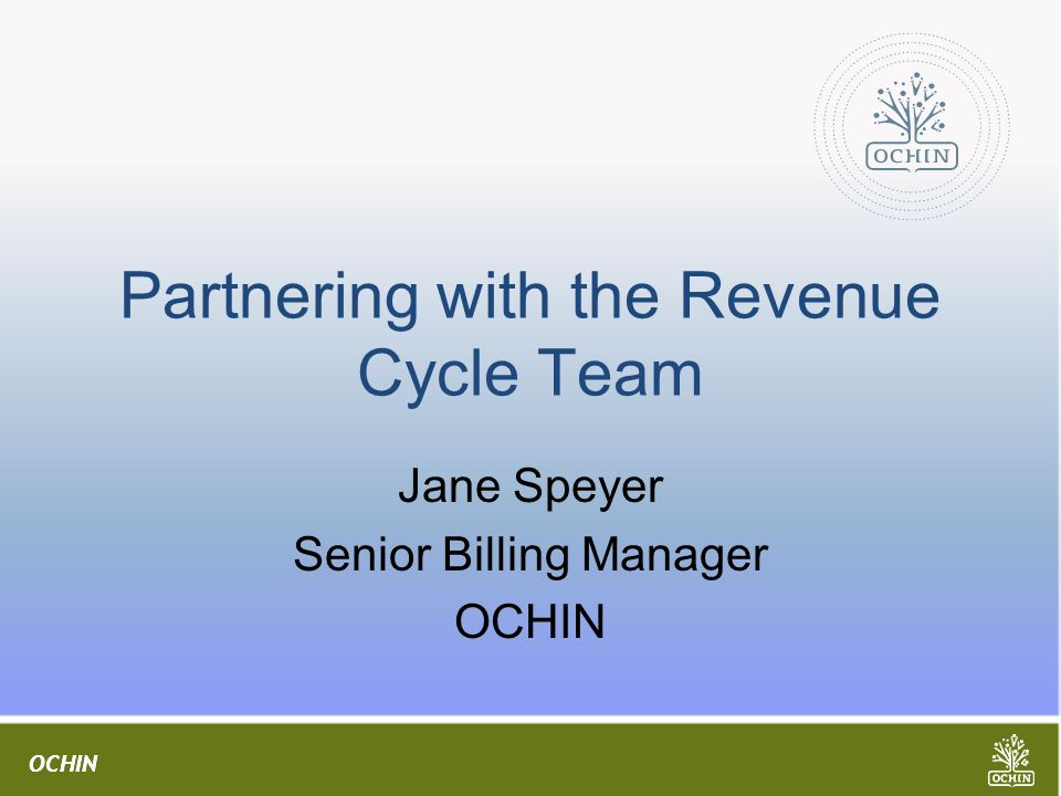 Partnering with the Revenue Cycle Team