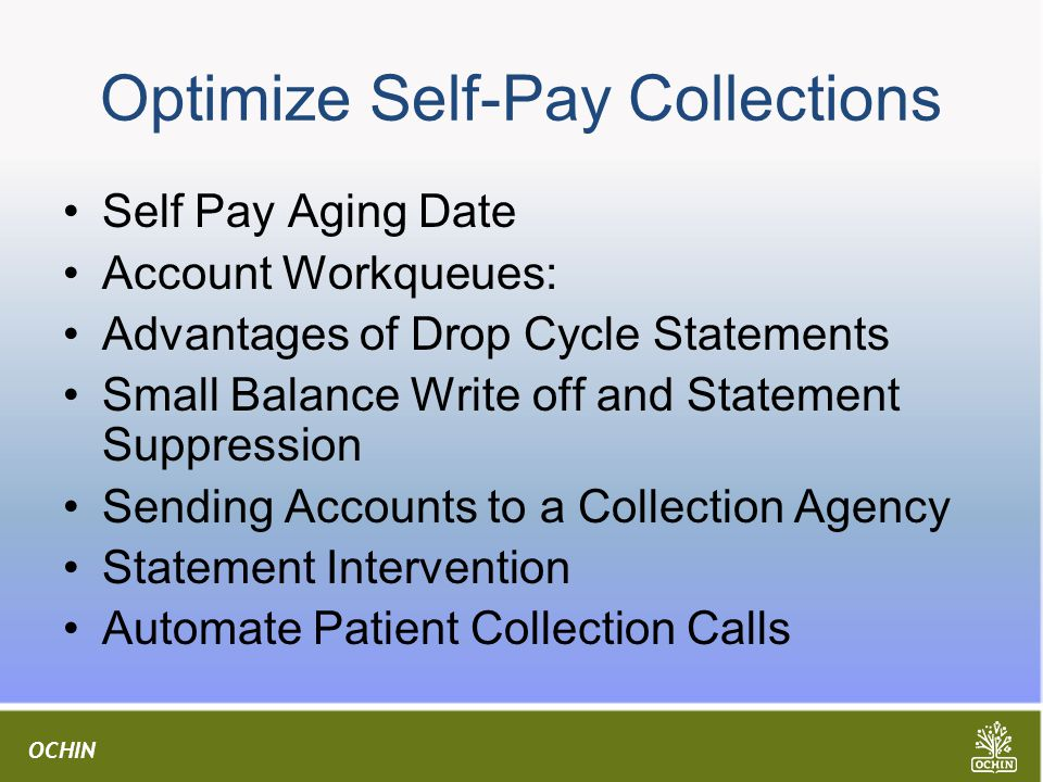 Optimize Self-Pay Collections
