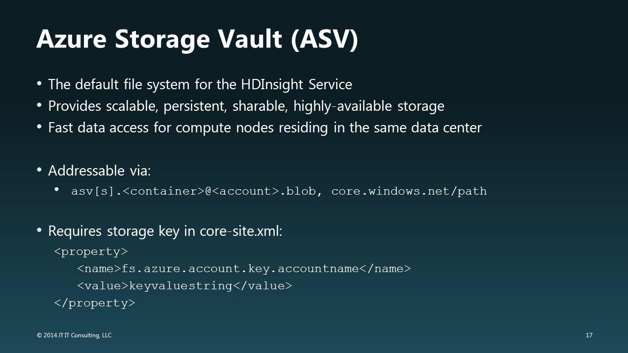 Azure Storage Vault (ASV)