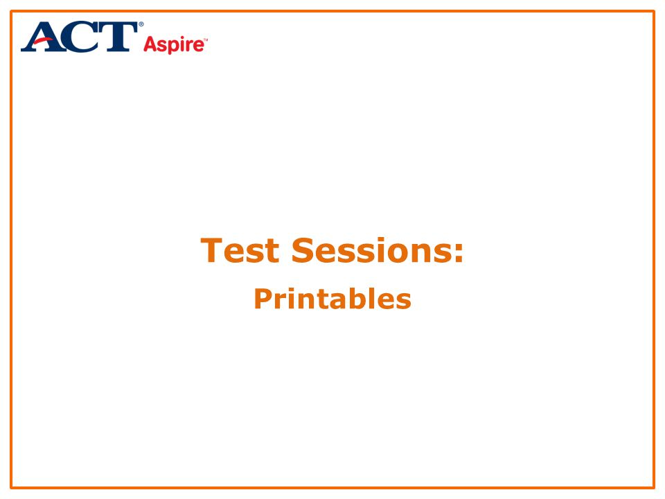 Test Sessions: Printables