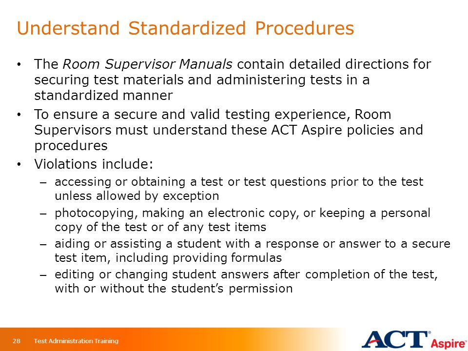 Understand Standardized Procedures
