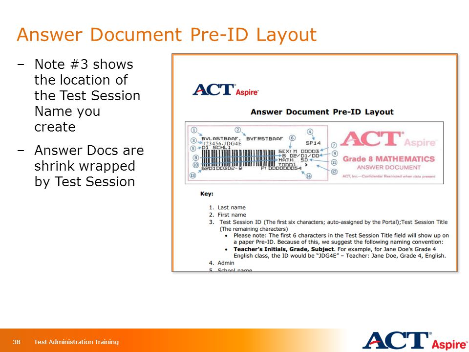 Answer Document Pre-ID Layout