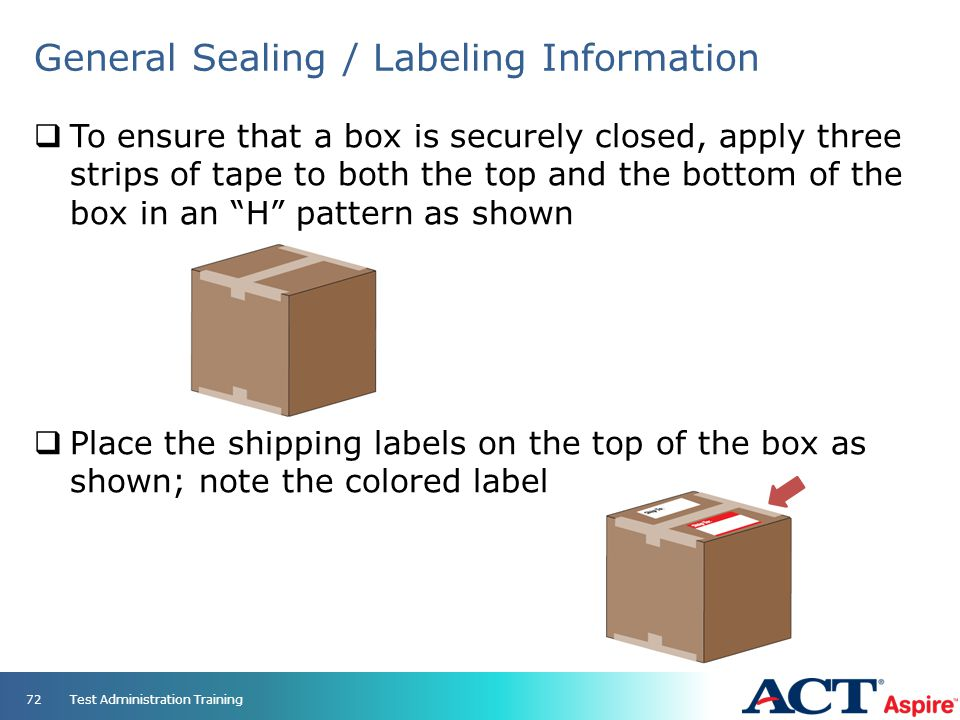 General Sealing / Labeling Information